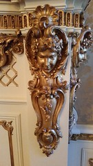 Wall decor (Terry Hassan) Tags: usa florida miami palmbeach flaglermuseum whitehall mansion museum decoration face gold detail guilded