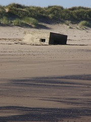 See coal (Nekoglyph) Tags: old beach concrete sand dunes ww2 fortification viewing defence pillbox redcar coatham seacoal