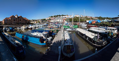 Bristol Docks to Clifton Wood Panorama (Vibrimage) Tags: summer panorama colour bristol eos somerset handheld harbourside bristoldocks hotwells canon24105mmf4 5d3 canon5dmark3