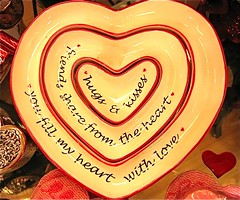 Bowl of love for Macro Monday theme (ArtsySF©Marjie) Tags: copyright macro love words all message heart © kisses bowl rights theme hugs monday hmm reserved heartfelt feelings 2012 sentiments bowlof macromonday artsysf©