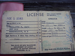 """""""Licence To Thrill"""" (JMcNamara603) Tags: old paper manchester antique nh 1966 driver 1942 licence valid"""