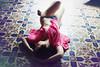 Unsure (Irene Serafini) Tags: pink portrait selfportrait girl canon purple floor skin modernism tiles nostalgic 600d miradafavorita