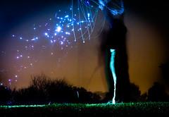 bubble sparks (patrix) Tags: longexposure reflection night giant soap flash sparkle bubble