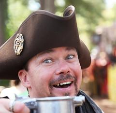 Mug behind The Mug (wyojones) Tags: usa leather festival beard texas trf moustache mug faire fest stein renaissance renfest eyebrows skullandcrossbones piratehat texasrenaissancefestival toddmission wyojones