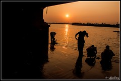 An usual evening (ujjal dey) Tags: sunset silhouette evening dreams ganges ujjal nikond90 hooglyriver nikon18105mm ujjaldey ujjaldeyin