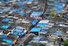 Mumbai (JonoHub) Tags: india monsoon bombay mumbai slums shantytown tiltshift toytown