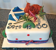 Scottish Birthday Cake