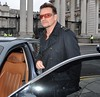 Bono leaves The Cellar Bar at The Merrion Hotel after having a meeting with Irish Economist David McWilliams Dublin, Ireland