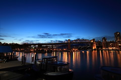 Chasing Twilight (memories of time) Tags: blue light sky canada reflection night vancouver twilight granvilleisland