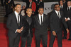 Marvin Humes, Aston Merrygold, Oritse Williams and Jonathan JB Gill of JLS James Bond Skyfall World Premiere held at the Royal Albert Hall- London