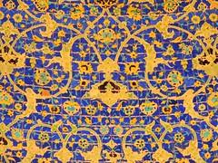 Islamic tiles detail (Germn Vogel) Tags: art floral beautiful tile design asia pattern iran mosaic muslim islam middleeast mosque bookcover islamic isfahan tilework safavid blueandyellow imammosque islamicrepublic westasia facebookcover gettyimagesmiddleeast