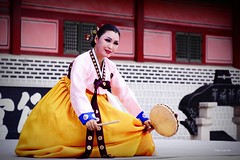 Traditional dance of Hwaseong, Suwon, Korea (Luke,Ma) Tags: house architecture wonderful ed dance ancient nikon republic south traditional performance korea full seoul frame housing format nikkor fx fortress ff  28300mm vr afs hwaseong suwon  d800        f3556g  greatphotographers      flickraward nikon28300  nikond800  nikon28300mm flickrtravelaward nikkor28300mm