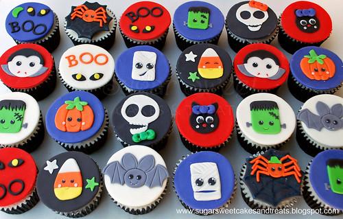 Kawaii Halloween Cupcakes