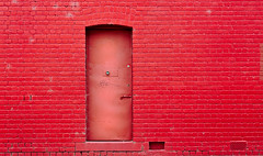 A Door in a Wall (RWYoung Images) Tags: door red urban abstract brick wall canon rwyoung 5d3