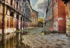 Venice after the Flood (h_roach) Tags: travel venice italy horizontal buildings flooding europe adventure historical puddles hdr gettyimage