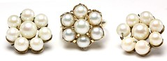 1021. Gold and Cultured Pearl Cluster Suite