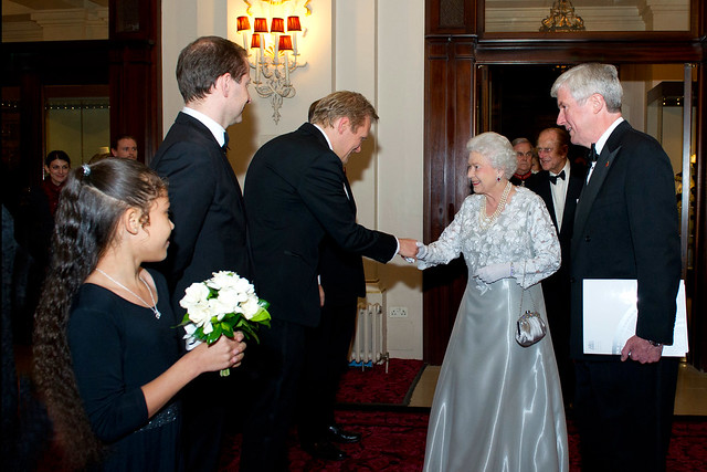 The Queen arrives at the Royal Opera House before the Our Extraordinary World Gala © Sim Canetty-Clarke/ROH 2012