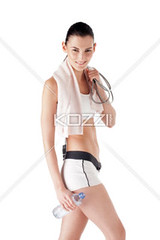 image of a sexy girl (people12dennis) Tags: portrait people woman white cute sexy girl beautiful beauty smile sport lady female train happy athletic healthy energy slim power looking exercise body muscular background beverage young relaxing lifestyle move fresh whitebackground health attractive strong brunette diet thin cheerful athlete workout fitness gym refreshing enjoyment fit freshness active refreshment