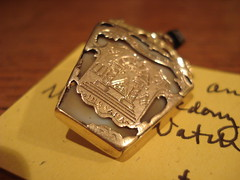 """Gold and Agate Masonic Watch Fob • <a style=""""font-size:0.8em;"""" href=""""http://www.flickr.com/photos/51721355@N02/8145879155/"""" target=""""_blank"""">View on Flickr</a>"""