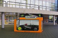 World's biggest matchbox car (Andy 1999) Tags: car amsterdam rai matchboxcar flexbox formflex metazet