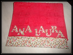 Toalhinha Infantil com nome ♥♥ (Marcia Sicoti Patchwork ♥♥♥) Tags: infantil com nome patchwork toalhinha