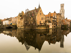 Bruges Belgium [Explored 5th Jan 2013] (MOG'S) Tags: winter reflection belgium bruges