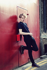 (GARETHRHYS.COM) Tags: light boy red portrait streets colour male london fashion digital canon hair skinny photography model shoes natural personal candid style jeans portraiture editorial casual relaxed androgyny gareth rhys androgynous
