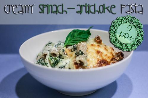 creamy spinach artichoke pasta