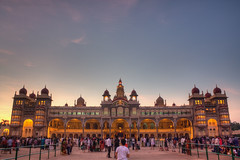 The Palace of Mysore At Dusk, Just Before Lighting Show ( Color Version ) (Sukanta Maikap Photography) Tags: twilight dusk mysore mysorepalace ambavilaspalace canon450d henryirwin wodeyars canon1855mmf3556is palaceofmysore