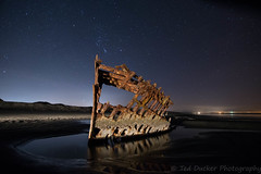 Peter Iredale (outabounds) Tags: light night stars long exposure artificial peter shipwreck wreck iredale