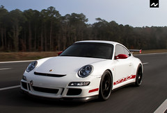 Rolling (Bailey Smith Photography) Tags: red white cars car fog speed canon cool nice automobile shot florida cara fast automotive exotic german porsche 7d jacksonville pan rs rare rolling bail rar gt3 gt3rs activfilms activfilmstv