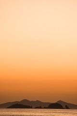 Sunset at Paros, Greece (ReinierVanOorsouw) Tags: travel sunset orange mountains water vakantie zonsondergang greece bergen paros silhouet oranje reizen griekenland