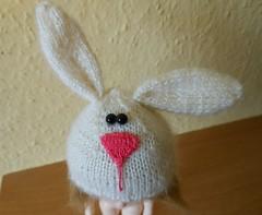 """Bunny"" cap :) (drutefka) Tags: knitted pukifee"