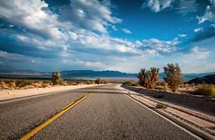 Desert Getaway (Sky Noir) Tags: california road ca sky usa mountains clouds photography big highway view desert getaway mojave drivers skynoir