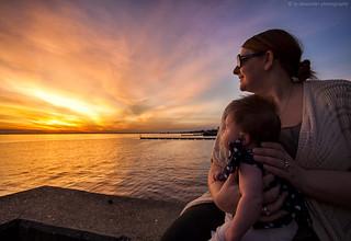 Enjoying Her First Sunset