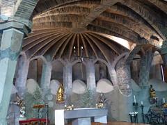 Chapel at the Colnia Gell by Antonio Gaudi (pov_steve) Tags: spain catalonia artnouveau crypt modernismo catalan modernisme modernista antoniogaudi colniagell criptadelacolniagell gellchapelatsantacolomadecervell