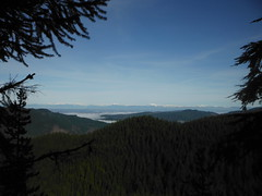 Canadian Peaks from the summit of Oyster Dome