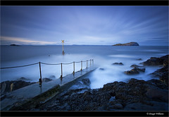 North Berwick Pier (Explored 2nd Feb 2013) (Dougie Williams) Tags: longexposure blue beach landscape scotland landscapes edinburgh horizon kitesurfing landing lee 5d northberwick 1740mm dougie stopper mkii eastlothian longexposures bythesea explored 5dmkii bigstopper nd10stop leebigstopper landscapephotographymagazine dougiewilliams