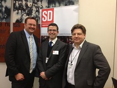 "Stephen Mosley MP at Supporters Direct Parliamentary Lobby with Chief Exec David Lampitt and Chester FC Director David Evans • <a style=""font-size:0.8em;"" href=""http://www.flickr.com/photos/51035458@N07/8447379077/"" target=""_blank"">View on Flickr</a>"