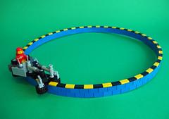 Classic Space Monorail (David Roberts 01341) Tags: lego classicspace scifi monorail brickbending clockwork pullbackmotor minifig minifigure technic