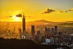 Sunset @ Taipei 101 (Jennifer ) Tags: 101         taipei  101 taiwan skyscraper magic hour  long exposure nikon nikond4s sunsettaipei101skyscraper taipei101skyscraper longexposure  carl zeiss d4s zeissplanart50mmf14zf2