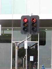 Traffic Lights on 'Crank Arm'. (RS 1990) Tags: unleyrd malvern adelaide southaustralia thursday 28th july 2016 parkst wattlest junction trafficlights aldridge crankarm
