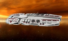 The Vesta (essaych) Tags: lego space spaceship spacecraft battleship render homeworld