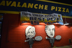 Avalanche Pizza Athens, OH (steelerfan871) Tags: athens ohio oh pizza parlor avalanche donald trump hillary clinton presidential candidates democrat republican