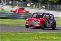 HSCC International Trophy Silverstone 22nd may 2016_0053 (ladythorpe2) Tags: red old hall corner oulton park gold cup 2016 race 20 hscchrsr by box historic touring cars 2 168 john marsden austin mini cooper s