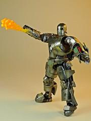 Kaiyodo – Sci-Fi Revoltech – Series No. 045 – Iron Man – Iron Man Mark I – Need a Light Anyone? (My Toy Museum) Tags: kaiyodo revoltech sci fi iron man mark 1 i action figure