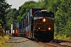 Eastbound CSX 3119 leads the charge! (cheliman) Tags: csxt ge locomotive erie pa es44ach train
