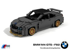 BMW M4 GTS (F82 - 2016) (lego911) Tags: bmw m4 gts 2016 coupe turbo auto car moc model miniland lego lego911 ldd render cad povray track racer 2010s lugnuts challenge 106 exclusiveedition limited special exclusive edition germany german sport foitsop