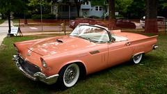 1957 Ford Thunderbird (Mustang Joe) Tags: nikon publicdomain d750 birmingham michigan unitedstates us ford thunderbird coral convertible classic car woodward dream cruise