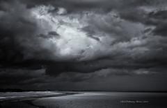 From Elmer to Littlehampton (rhfo2o - rick hathaway photography) Tags: rhfo2o canon canoneos7d elmer elmersands littlehampton westsussex sea seaside groyne beach sand headland sky clouds horizon bw blackandwhite mono seascape